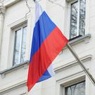 The Russian flag flying outside the country's embassy in London (Kirsty O'Connor/PA)