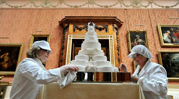 The Duke and Duchess of Cambridge's official wedding cake (John Stillwell/PA)
