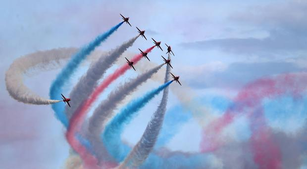 Red Arrows crash (Andrew Matthews/PA)