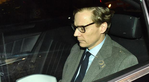 Alexander Nix has been suspended following comments to an undercover reporter (Dominic Lipinski/PA)
