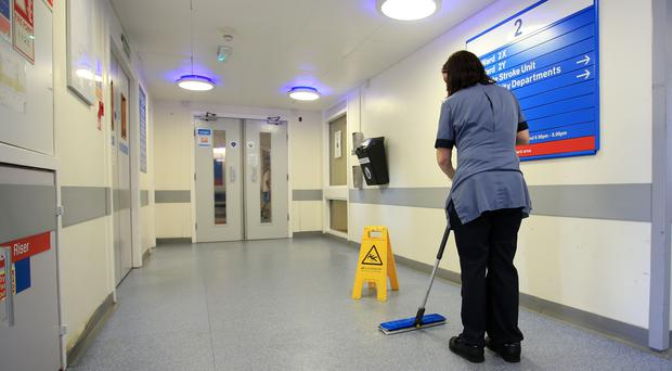 Cleaners and porters would receive a 15% increase (Peter Byrne/PA)
