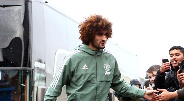 Manchester United player Marouane Fellaini (Dave Thompson/PA)