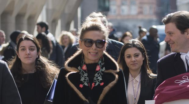 Russian housewife Tatiana Akhmedova who was awarded £453 million by a judge after her marriage to billionaire businessman Farkhad Akhmedov broke down (David Mirzoeff/PA)