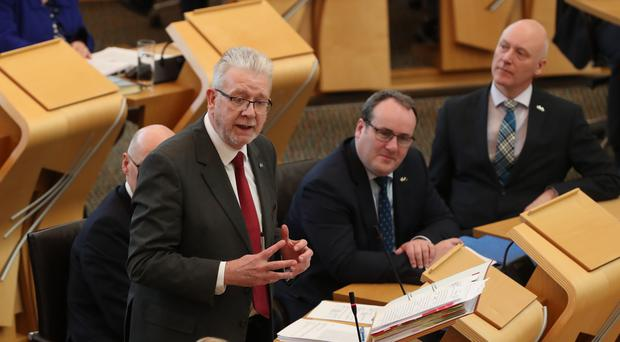 Brexit Minister Mike Russell had urged MSPs to back the Scottish Government's emergency Brexit Bill. (Andrew Milligan/PA)