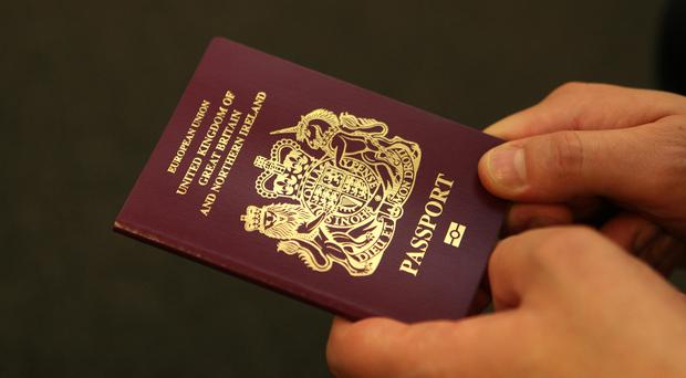 The British passport will change from burgandy to blue (PA)