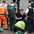 Tobias Ellwood tried in vain to save the life of Pc Keith Palmer (Stefan Rousseau/PA)