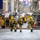 Firefighters tackle a large blaze on Sauchiehall Street (Jane Barlow/PA)