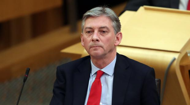 Scottish Labour leader Richard Leonard during First Minister's Questions (Jane Barlow/PA)