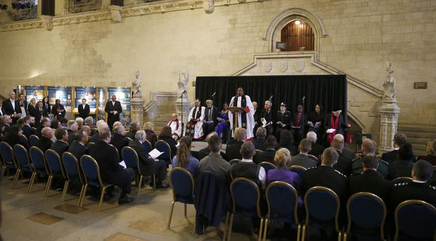 Speaker's Chaplain Reverend Rose Hudson-Wilkin, speaks during a commemoration for the victims of the terror attack on Westminster (PA)