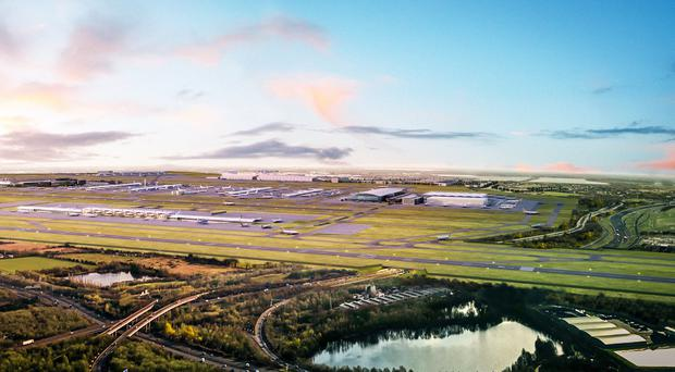 Heathrow Airport has launched a public consultation on the airport's construction of a third runway (VU London/PA)