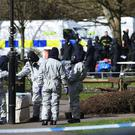 Police responding to the Salisbury nerve agent incident (Ben Birchall/PA)