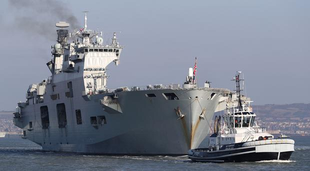 The Queen bids farewell to Sunderland's HMS Ocean
