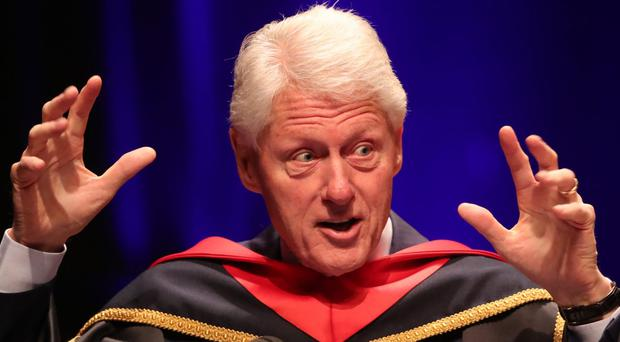 Bill Clinton at Queen's University (Niall Carson/PA)