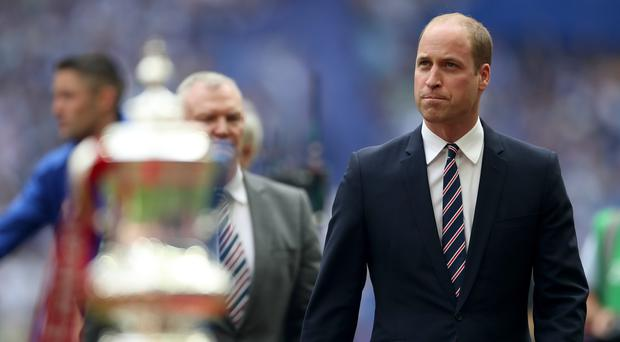 FA president the Duke of Cambridge during a previous FA Cup final (Nick Potts/PA)