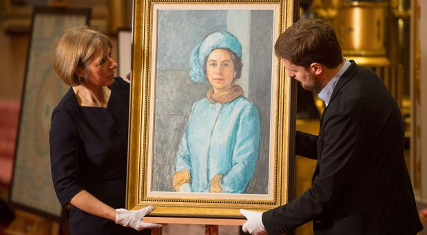 The portrait, 'HM the Queen, 1972-73' by Michael Noakes , will be one of the artworks to go on show (Dominic Lipinski/PA)