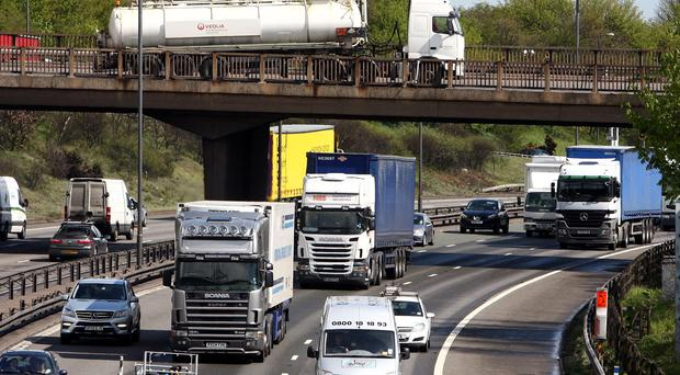 Cleaner lorries face a discount on the HGV levy (David Jones/PA)