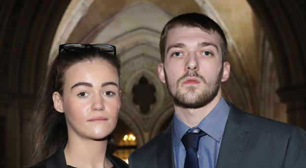 Tom Evans and Kate James, the parents of 22-month-old Alfie Evans, will not have their case heard at the ECHR (Philip Toscano/PA)