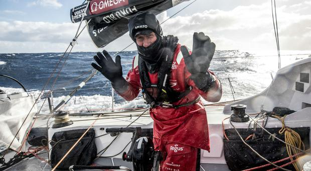 John Fisher was knocked overboard during the Volvo Ocean Race (Konrad Frost/Volvo Ocean Race/PA)