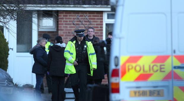 Police activity in the cul-de-sac in Salisbury that contains the home of former Russian double agent Sergei Skripal who was poisoned along with daughter Yulia with a nerve agent (Andrew Matthews/PA)