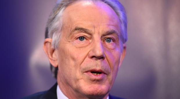 Ex-PM Tony Blair spoke to a pro-EU think tank (Kirsty O'Connor/PA)