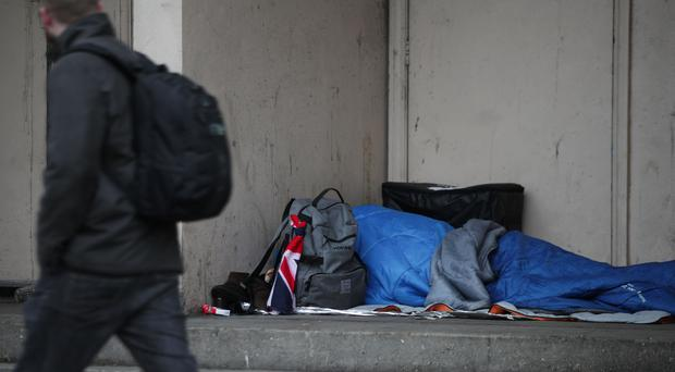 The Government has faced intense criticism over spiralling numbers of people living on the streets (Yui Mok/PA)