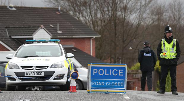 A police cordon in Salisbury, near to the home of Sergei Skripal (Andrew Matthews/PA)