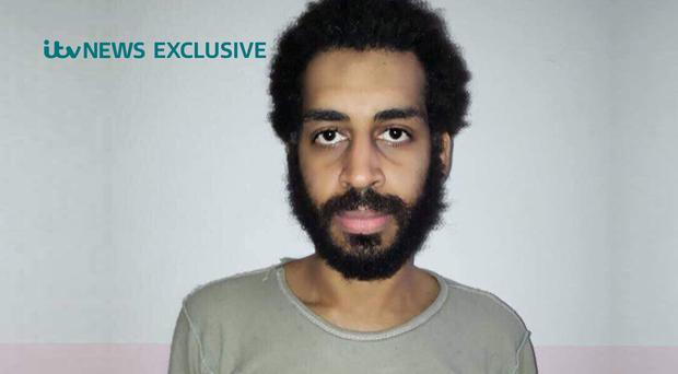 Alexanda Kotey said the killing of hostages had been 'regrettable' (ITV News/PA)