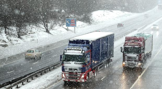 Motorists have been warned to drive with caution (Andrew Milligan/PA)