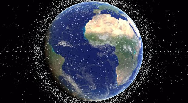 The mission will demonstrate technology designed to pick up litter in space. (University of Southampton/PA)
