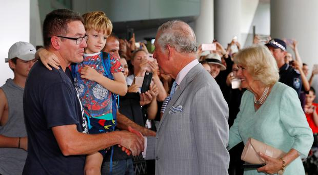 Royal visit to Australia – Day One