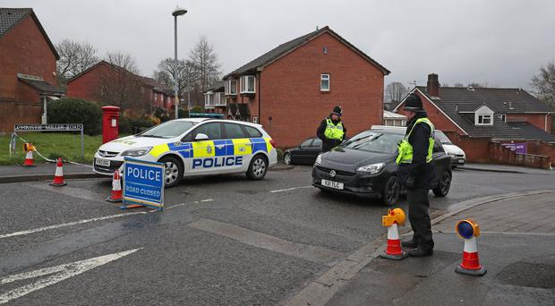 Police activity on Christie Miller road in Salisbury, near to the home of Sergei Skripal (Jonathan Brady/PA)