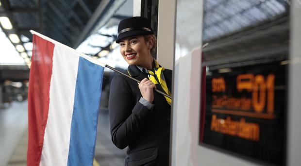 Eurostar trains from London to Amsterdam take three hours and 41 minutes (Eurostar/PA)