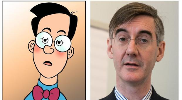 Walter the Softy and Jacob Rees-Mogg (DC Thomson/PA)