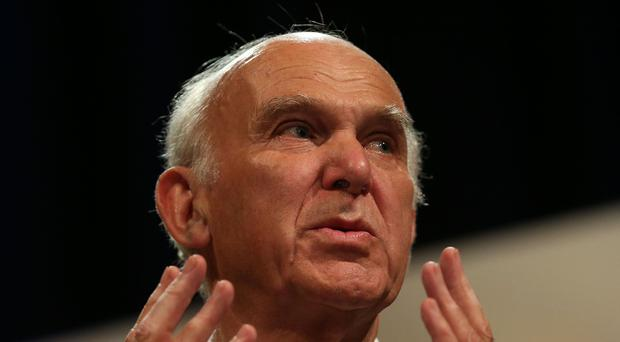 Sir Vince Cable urged voters in next month's local elections to send a message over Brexit (Andrew Matthews/PA)