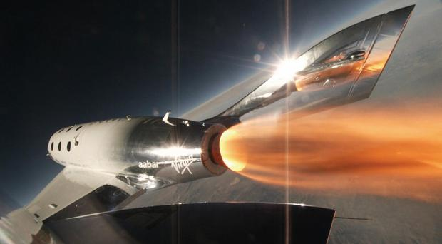 Virgin Galactic said the spacecraft achieved supersonic speed (Virgin Galactic/PA)