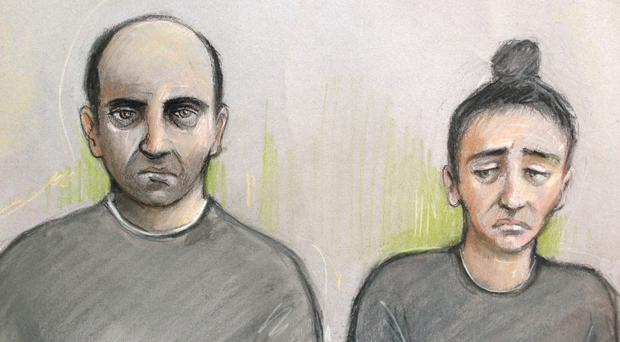 Ouissem Medouni and his partner Sabrina Kouider are accused of murdering their nanny Sophie Lionnet (Elizabeth Cook/PA)