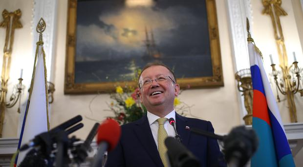 Russian ambassador Alexander Yakovenko has requested a meeting with Boris Johnson (Yui Mok/PA)