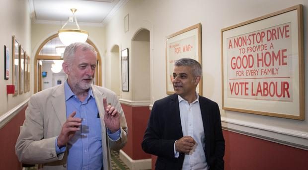 Labour leader Jeremy Corbyn and London Mayor Sadiq Khan will launch the party's local election campaign (Stefan Rousseau/PA)