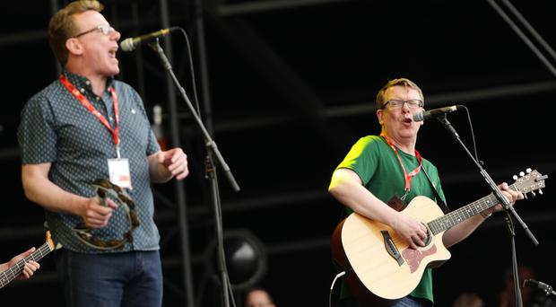 A new campaign uses The Proclaimers' song 500 Miles to encourage Scots to learn CPR (Yui Mok/PA)