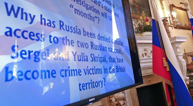 The Russian embassy has compared the Skripals' resettlement to abduction (Yui Mok/PA)