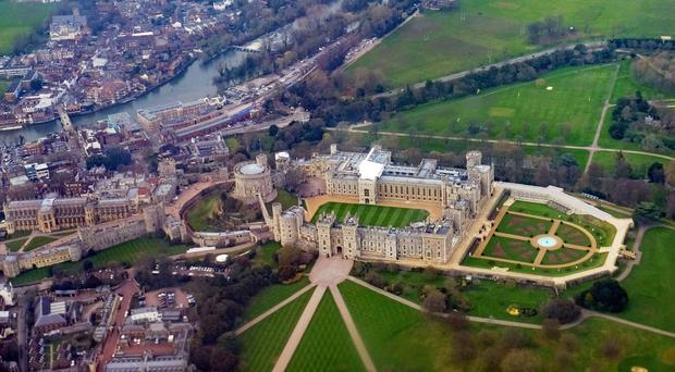 An aerial view of Windsor Castle in Berkshire which will host the wedding (Owen Humphreys/PA)