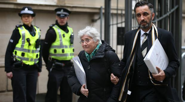 Former Catalan Minister Professor Clara Ponsati, who is facing extradition to Spain, arrives at Edinburgh Sheriff Court for an extradition hearing (Jane Barlow/PA)