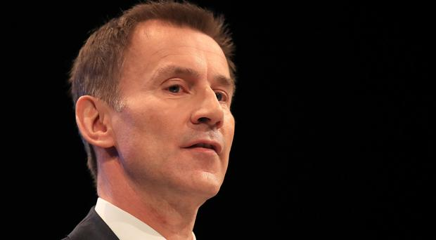Jeremy Hunt has apologised following the disclosure that he failed to to declare a business interest. (Peter Byrne/PA)