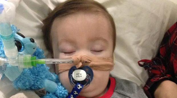 Alfie Evans, as his parents Tom Evans and Kate James are at the centre of a life-support treatment battle (Alfies Army Official/PA)