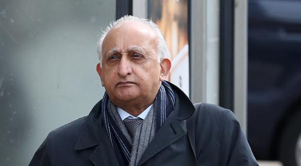 Ajaz Karim is on trial at Brighton Crown Court, accused of sexually abusing students (Faterh Fuller/PA)