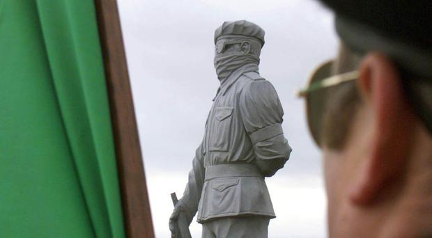 A statue portraying an INLA member (Paul Faith/PA)