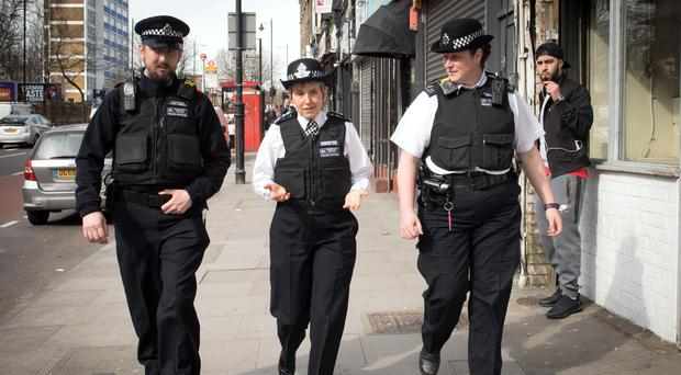 Metropolitan Police Commissioner Cressida Dick (centre) said some communities met officers with a 'wall of silence' over violent crime (Stefan Rousseau/PA)