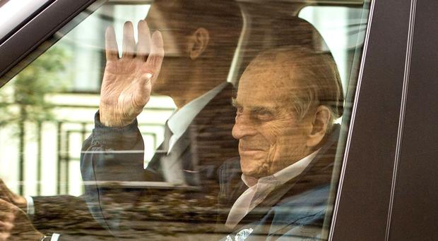 The Duke of Edinburgh left hospital nine days after planned surgery to replace his hip joint with a prosthetic implant. (Victoria Jones/PA)