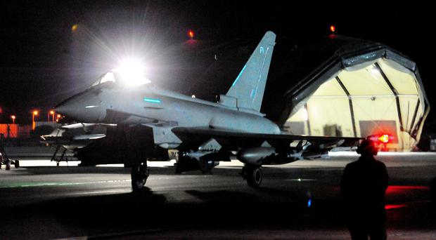An RAF Eurofighter Typhoon could be deployed against Syria (Nick Ansell/PA)