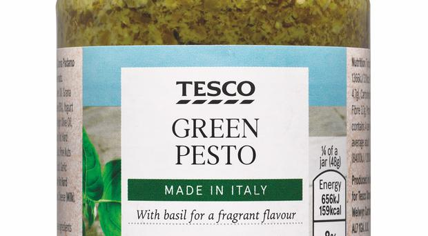 Tesco own-brand pesto was among the products tested. (Which?/PA)